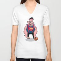 sloth V-neck T-shirts featuring Sloth by Artistic Dyslexia