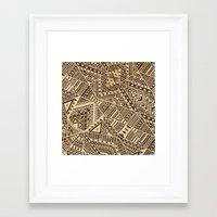 tribal Framed Art Prints featuring Tribal  by Terry Fan