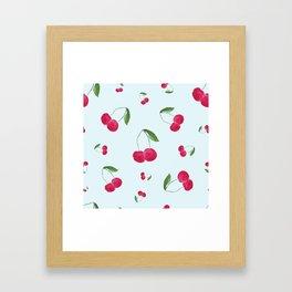 Sweet Cherry Pattern Framed Art Print