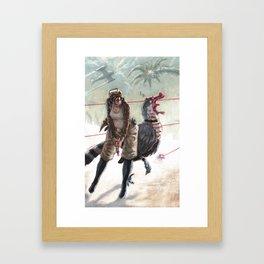 Raptor Wars Framed Art Print
