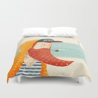 outdoor Duvet Covers featuring Beach by Seaside Spirit