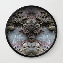Mirrored Riverbed Wall Clock