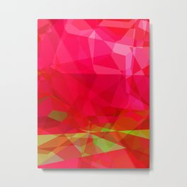 Crape Myrtle Abstract Polygons 3 Metal Print