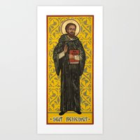 St. Benedict Icon Art Print