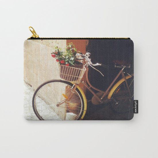 Yellow Bicycle Carry-All Pouch