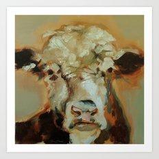 Hereford Cow Art Print