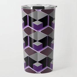 BLACK GREY PURPLE CUBES Travel Mug