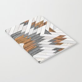 Urban Tribal Pattern No.8 - Aztec - Wood Notebook