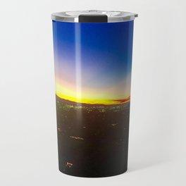 City Lights and Sunset Travel Mug