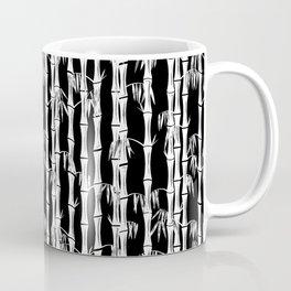 Bamboo Forest Pattern - Black White Grey Coffee Mug