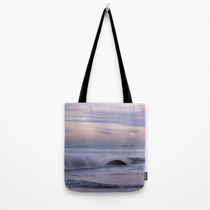 Pastel Ocean Moonrise Tote Bag