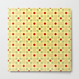 Symmetric patterns 155 yellow and red Metal Print