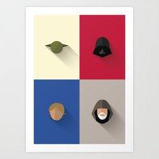 SW The Jedis - Minimalist Poster Art Print