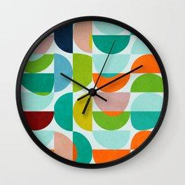 shapes abstract III Wall Clock