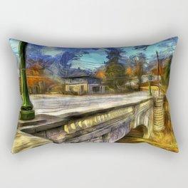 The Headless Horseman Bridge Van gogh Rectangular Pillow