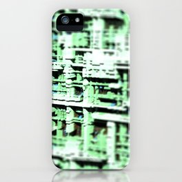 Abstract structure building house modern intricate pattern background iPhone Case