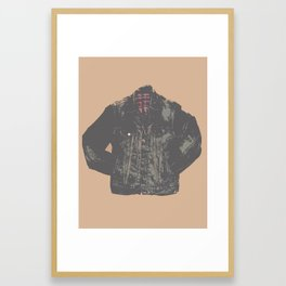 Jean Jacket Framed Art Print