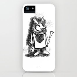 White Rabbit by Coreyartus iPhone Case