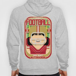 American Football Red and Gold -  Hail-Mary Blitzsacker - Amy version Hoody