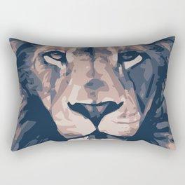 Face to Lion Rectangular Pillow