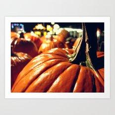 Shiny Pumpkins Art Print