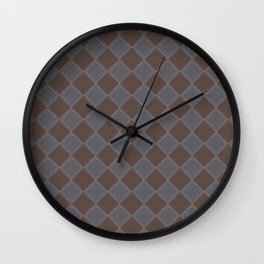 Primitive Tudor Style Diamond Pattern Wall Clock