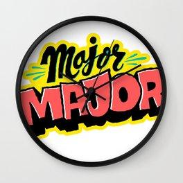 Major Major Wall Clock