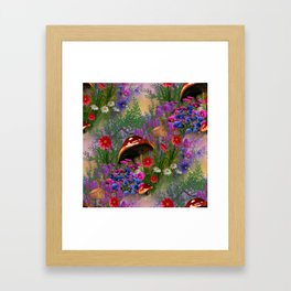 Mushroom Fantasy Garden Framed Art Print