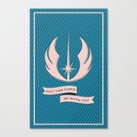 jedi Canvas Prints featuring Jedi Blueprints by Travis English