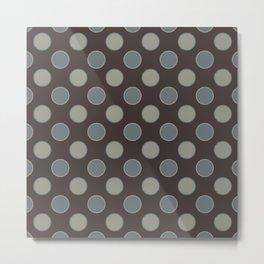 Oatmeal Stout Retro Polka Dot Print Seamless Pattern Metal Print
