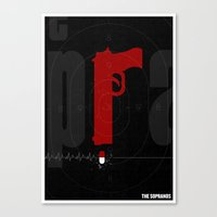 sopranos Canvas Prints featuring The Sopranos Poster by Take Heed