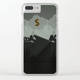 Where all think alike, no one thinks very much. Clear iPhone Case