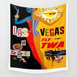 Vintage poster - Las Vegas Wall Tapestry