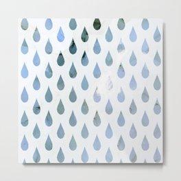 blue tear drops Metal Print