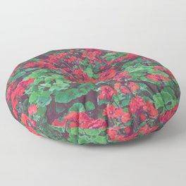 Geraniums Floor Pillow