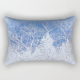 Tree   Trees   Blue Winter Landscape   Nadia Bonello Rectangular Pillow