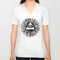 all seeing eye V-neck T-shirts featuring All seeing camera eye by dsimpson