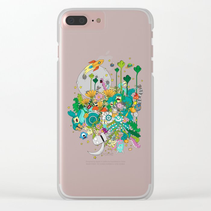 Imaginary Land Clear iPhone Case