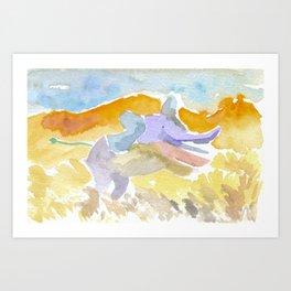 Magical Elephant Art Print