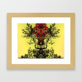 majestic - yellow Framed Art Print