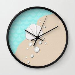 Seashell by the Seashore Wall Clock