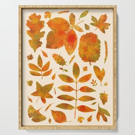 Autumn Leaves Fall Serving Tray