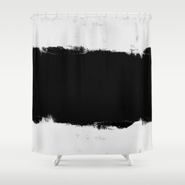Black & White Abstract Stripes Shower Curtain