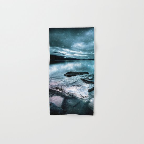 magical mountain lake Hand & Bath Towel