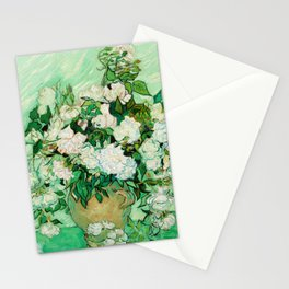 Roses by Vincent Van Gogh - Vintage Painting Stationery Cards