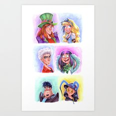 Mad T Party Band Art Print