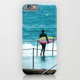 Surfer waiting for entry into the surf at Bronte Beach. Sydney. Australia. iPhone Case