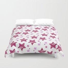 Twinkle little purple stars Duvet Cover