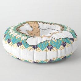 Mandala Abhaya Mudra Buddha Floor Pillow