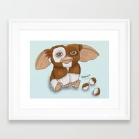 gizmo Framed Art Prints featuring Gizmo by Melissa Sanchez Art